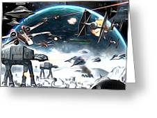 Empire Star Wars Poster Greeting Card
