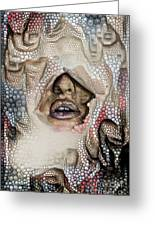 Hidden Face With Lipstick Greeting Card