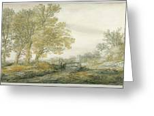 Landscape With Trees Greeting Card