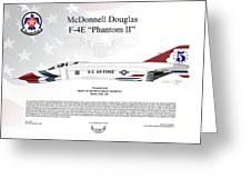 Mcdonnell Douglas F-4e Phantom II Thunderbird Greeting Card