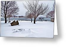 Obear Park In Winter Greeting Card