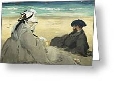 On The Beach Greeting Card
