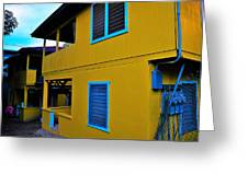 Roatan/house Greeting Card