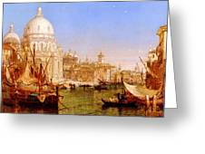 selous Henry Courtney A View Along The Grand Canal With Santa Maria Della Salute Henry Courtney Selous Greeting Card