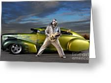 Silver Elvis Greeting Card