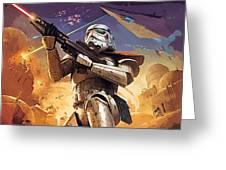 Star Wars Saga Poster Greeting Card