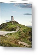 Stunning Summer Landscape Image Of Lighthouse On End Of Headland Greeting Card