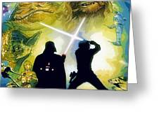 The Star Wars Art Greeting Card