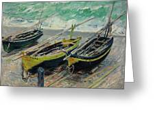 Three Fishing Boats Greeting Card
