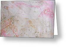 11. V2 Pink And Cream Texture Glaze Painting Greeting Card