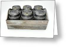 Whiskey Jars In A Crate Greeting Card