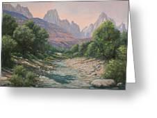 110124-1216   Bryce Canyon Run-off Greeting Card