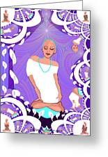 1103  Yoga Lady Fractal 2017 Greeting Card