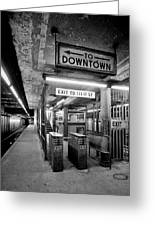 110th Street And Lenox Avenue Station - New York City Greeting Card