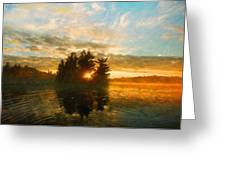 Nature Art Original Landscape Paintings Greeting Card
