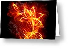 112775 Flowers Fire Greeting Card