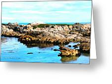 West Coast Seascape 2 Greeting Card
