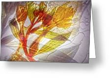 11315 Flower Abstract Series 03 #13 Greeting Card