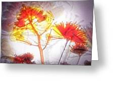 11318 Flower Abstract Series 03 #16 Greeting Card