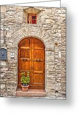 1164 Assisi Italy Greeting Card