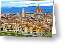 1167 Florence Italy Panorama Greeting Card