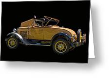 1930 Model A Ford Convertible Greeting Card