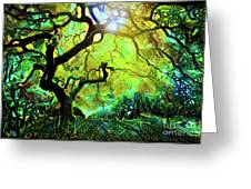 12 Abstract Japanese Maple Tree Greeting Card