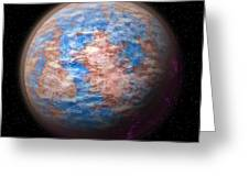 Abstract Planet Greeting Card