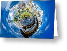 Bbt Baseball Charlotte Nc Knights Baseball Stadium And City Skyl Greeting Card