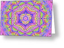 Birth Mandala- Blessing Symbols Greeting Card