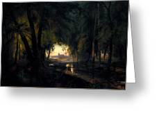 Forest Path Near Spandau Greeting Card