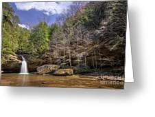 Hocking Hills Waterfall Greeting Card