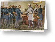 Lees Surrender 1865 Greeting Card by Granger