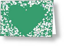 Love Heart Valentine Shape Greeting Card