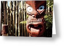 Maori Carving Greeting Card