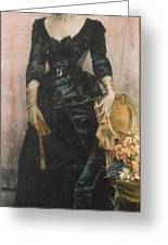Portrait Of A Lady  Greeting Card