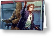 Star Wars Galaxies Art Greeting Card