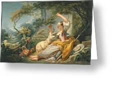 The Shepherdess Greeting Card