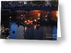 Waterfire Greeting Card