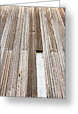 Wooden Panels Greeting Card