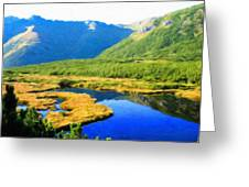 Nature Landscape Oil Painting Greeting Card