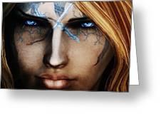 120941 The Elder Scrolls V Skyrim Wizard Blue Eyes Greeting Card