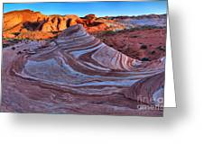 Fire Wave Panorama Greeting Card
