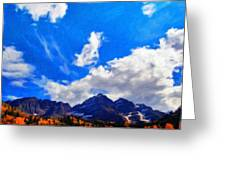 Landscape On Nature Greeting Card