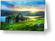 Nature Landscape Art Greeting Card