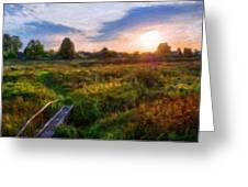 Nature Landscape Work Greeting Card
