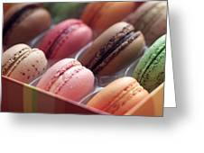 French Macaron Rainbow Greeting Card
