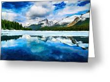 Nature Landscape Oil Painting For Sale Greeting Card