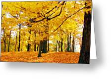 Painting Landscape Greeting Card