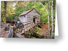 1267 Great Smoky Mountain Cable Mill Greeting Card